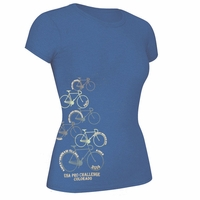 US Pro Challenge Women's Bike Stages Tee - Blue