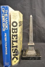 Antique Grand Tour Metal Obelisk