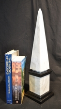 Black and white marble obelisk