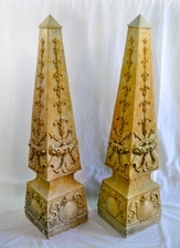"Cast Stone Obelisks (2ft, 8"")"
