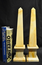 Cream Marble Obelisks