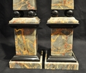 Grey & Gold Marble Obelisks with Black Accents
