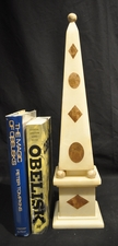 Italian 19th century cream & brown marble obelisk