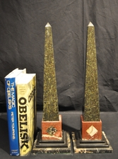 Antique specimen marble obelisks