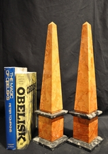 Red & Black Marble Obelisks