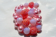 """Cotton Candy Galore""  Glass and Pearl Beaded Wrap Bracelet"