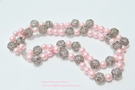"""Great Balls of Pink"" Faux Pearl Necklace"