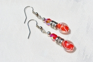 """Short Cake"" Beaded Crystal Earrings"