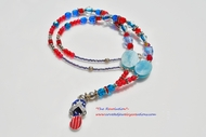 """""""The Revolution"""" Crystal and Seed Beaded Necklace"""