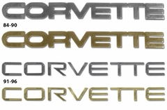 1984-1996 Gold & Chrome Finish Rear Emblems