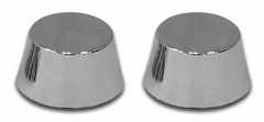 1988-1996 Headlight Motor Cap Covers Stainless Steel 2 Piece