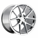 2009 C6Z06 Spyder Style Corvette Wheels (Set): Chrome 18x9.5/19x12 2006-2013 C6Z06/C6GS
