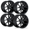 2009 C6Z06 Spyder Style Reproduction Corvette Wheels (Set): Gloss Black