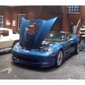 2009 Jetstream Blue ZR1 LS9 Corvette - Chris Chubby