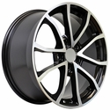 2013 Corvette 60th Anniversary - 427 Centennial Special Edition - Cup Style Wheels (Set) Black w/Machined Face : 17x8.5 / 18x9.5 1997-2004 C5