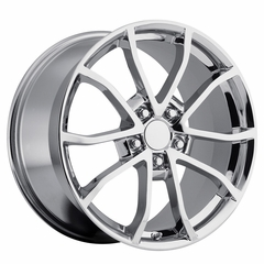 2013 Corvette 60th Anniversary - 427 Centennial Special Edition - Cup Style Wheels (Set) Chrome 17x8.5/18x9.5 : 1997-2004 C5 & Z06