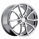 2013 Corvette 60th Anniversary - 427 Centennial Special Edition - Cup Style Wheels (Set) Chrome : 18x8.5 / 19x10 1997-2004 C5 & Z06
