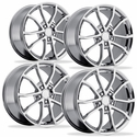 2013 Corvette 60th Anniversary - 427 Centennial Special Edition Cup Style Wheels (Set) : Chrome