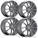 2013 Corvette 60th Anniversary - 427 Centennial Special Edition Cup Style Wheels (Set) : Comp Grey