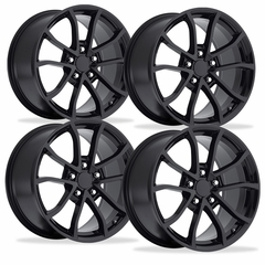 2013 Corvette 60th Anniversary - 427 Centennial Special Edition - Cup Style Wheels (Set) - Gloss Black