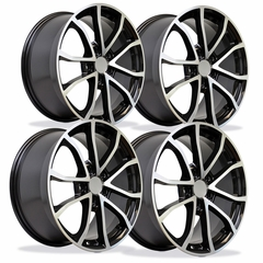 2013 Corvette 60th Anniversary - 427 Centennial Special Edition - Cup Style Wheels (Set) - Gloss Black w/Machined Face