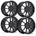 2013 Corvette 60th Anniversary - 427 Centennial Special Edition Cup Style Wheels (Set) : Satin Black