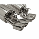 "B&B Fusion Axle-Back Corvette Exhaust for Non-NPP Equipped - Quad 4.5"" Oval Tips (05-08 C6) - B&B FCOR-0458"