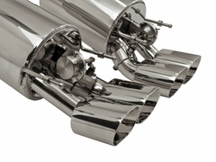 "B&B Fusion Axle-Back Corvette Exhaust for NPP Equipped - Quad 4.5"" Oval Tips (09-13 C6)"