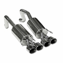 "B&B PRT Axle-Back Corvette Exhaust - Quad 4.5"" Oval Tips (05-08 C6) - B&B FCOR-0420"