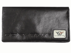 Black C5 Leather Checkbook Cover