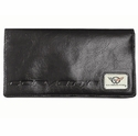 Black C5 Leather Checkbook Cover -  MH-1522