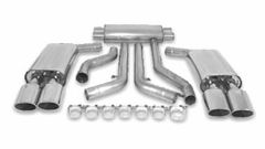 "C4 1990-1991 B&B 3"" Cat-Back Corvette Exhaust System - Quad 4.5"" Oval Tips"
