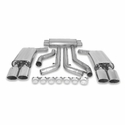 "C4 1990-1991 B&B 3"" Cat-Back Corvette Exhaust System - Quad 4.5"" Oval Tips - B&B FCOR-0005"