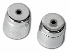 C4 1994-1996 Corvette Air Conditioner Check Valve Cap Covers - Chrome