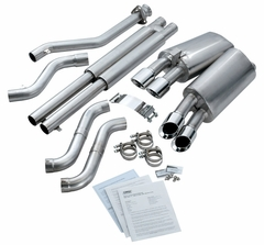 "C4 1996 Corsa 3.5"" Axle-Back Corvette Exhaust - Quad Round Pro Tips"