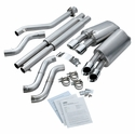 "C4 1996 Corsa 3.5"" Axle-Back Corvette Exhaust - Quad Round Pro Tips - Corsa 14118"