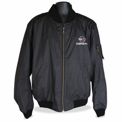 C4 Corvette Men's Jacket Aviator - Black with C4 Logo