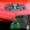 C5/C5 Z06 2001-2004 Corvette Cold Air Intake System - Hurricane Black