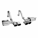 C5/C5 Z06 B&B PRT Axle-Back Corvette Exhaust - Quad Oval Tips - B&B FCOR-0205