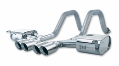 C5/C5 Z06 B&B PRT Axle-Back Corvette Exhaust - Quad Round Tips