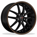 C5 C6 Corvette Wheel Package - SR1 APEX Gloss Black With Orange Pinstripe1 Piece Aluminum (97-12 C5 / C5 Z06 / C6)
