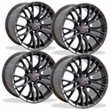 C5 Corvette C7 Z06 Style Reproduction Wheels (Set) : Gunmetal