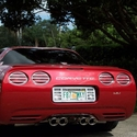 C5 Stainless Steel Slotted Taillight Covers (97-04 C5/C5 Z06)