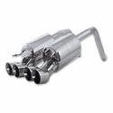 "C6 2009-2013 B&B Route 66 Axle-Back Corvette Exhaust - Quad 4.0"" Round Tips - B&B FCOR-0505"