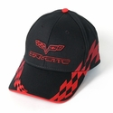 C6 Corvette - Embroidered Bad Vette Hat Red