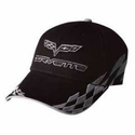 C6 Corvette - Embroidered Bad Vette Hat Silver