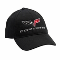 C6 Corvette Low Profile Brushed Twill Hat - Black