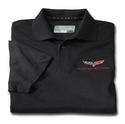 C6 Corvette Men's DryTec Championship Polo - Black