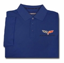 C6 Corvette Men's DryTec Championship Polo - Navy Blue