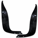 C6 Corvette Rear Mud Flaps - Carbon Fiber